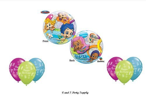 Bubble Guppies Birthday Party Balloons Decorations Supplies NEW! by Qualatex by Qualatex (Supplies Party Bubble Guppy)