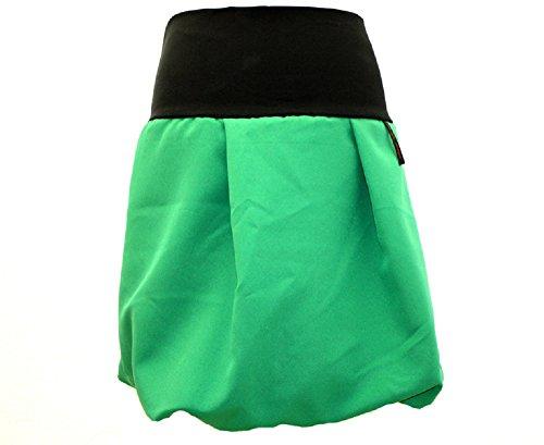dunkle design Ballonrock Rock in A-Linie Knielang oder Midi in vielen Farben Maigrün