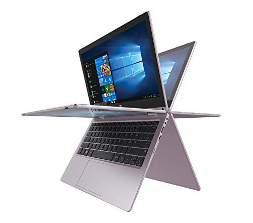 TREKSTOR YOURBOOK C11B-CO, Convertible (11,6 Zoll Full-HD IPS Touch Bildschirm, Intel Celeron N3350, 4 GB RAM, 64 GB Speicher, Fingerprintsensor, Windows 10, inkl. Office 365 & Sofatutor) roségold