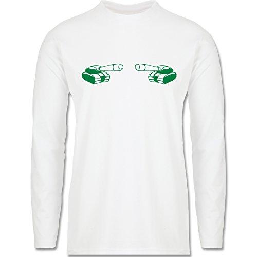 Andere Fahrzeuge - Panzer - Longsleeve / langärmeliges T-Shirt für Herren Weiß