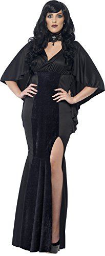 Smiffys, Damen Vamp Kostüm, Kleid, Größe: X1, 44338 (50 Kostüme Für Halloween)