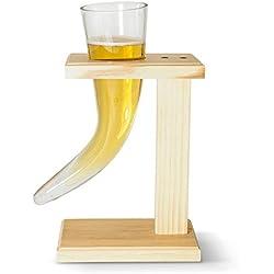 Vaso de cerveza con forma de cuerno de The Source