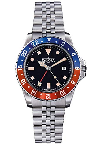 Davosa Red and Blue Vintage Diver Watch (Pepsi)