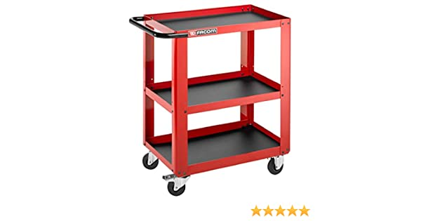 Rouge Facom ROLL.UC3S Chariot datelier 3 Plateaux