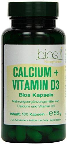 Bios Calcium und Vitamin D3, 100 Kapseln, 1er Pack (1 x 56 g)