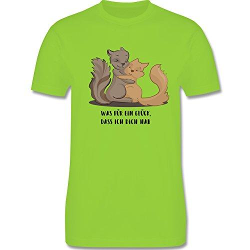 Sonstige Tiere - Beste Freunde - Herren Premium T-Shirt Hellgrün