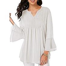 Niña otoño fashion,Sonnena ❤ Blusa de gasa casual de las mujeres de verano