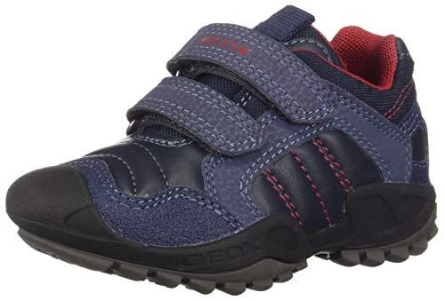 Geox J New Savage Boy A, Zapatillas para Niños, Azul (Navy/Red C0735), 26 EU