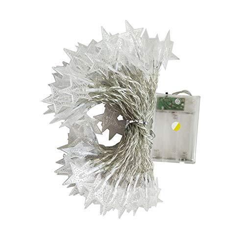 LANDFOX 2mx10led Lampe Zimmer Dekoration Licht String Kreative Hängeleuchte Blinklicht 20 LED kristallklare Sterne Fairy String Licht Hochzeit Party im Freien Dekor Lampe (rot)
