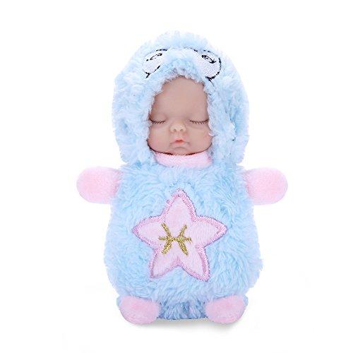 Puppen Plüsch Stuffed Schlüsselbund 12 Konstellation Schlafen Neugeborenen Puppe Handytasche Hängen Spielzeug Ornamente Acessory (Fische) (Wie Fische Schlafen)