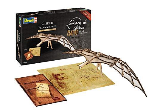 Revell- Glider (500 Years Leonardo da Vinci), Escala 1:8 Modelo de Kit de Madera, Multicolor, 00516/516