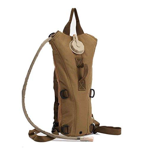 LUFA 3L Tactical Rucksack Wassertasche Hydration Flasche Beutel Tasche für Camping Wandern Sandfarbe