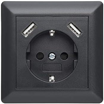230 V contact de protection Prise Schuko Prise murale USB
