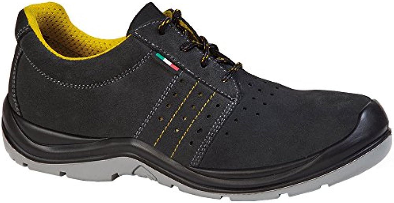 giasco Zapatilla de sahara S1, tamaño 37, 1 pieza, Negro/Amarillo, ac082t37