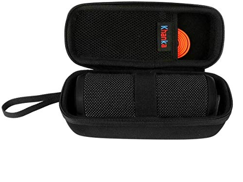 Khanka EVA Hard Case Voyage Sac de transport pour JBL flip 1/2/3 Flip 4 Portable sans fil Bluetooth Speaker (Noir)