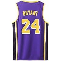 Bryant Kobe Basketball Trikots Los Angeles Lakers Shirt der Männer # 24 Gelb Schwarz Lila