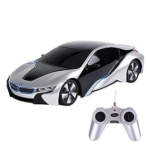 Webby BMW i8 Concept 1:24 Remote Control Sports Car, Silver