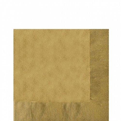 Preisvergleich Produktbild Amscan Papier-Servietten, verschiedene Farben, zweilagig, 20 Stück (33cm x 33cm) (Gold)