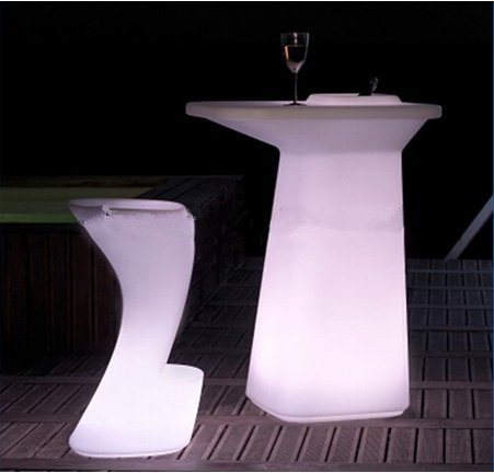 Gowe Mode lumineux LED murale Table pour station de café/fête/hôtel/bar Creative Lighted à table basse batterie
