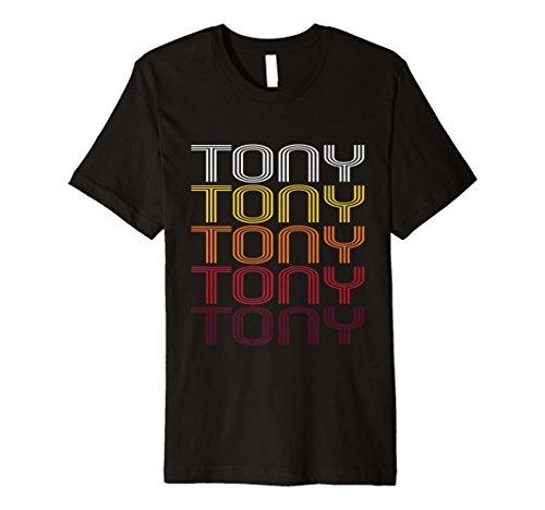 Tony Retro Wordmark Pattern - Vintage Style T-shirt