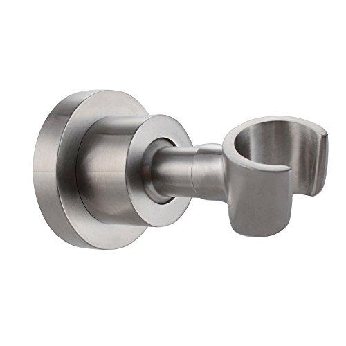 Nickel-dusche-kopf (KES Messing Dusche Kopf Halterung Halter stufenlos verstellbare Wandhalterung Gebürsteter Nickel, C214-2)