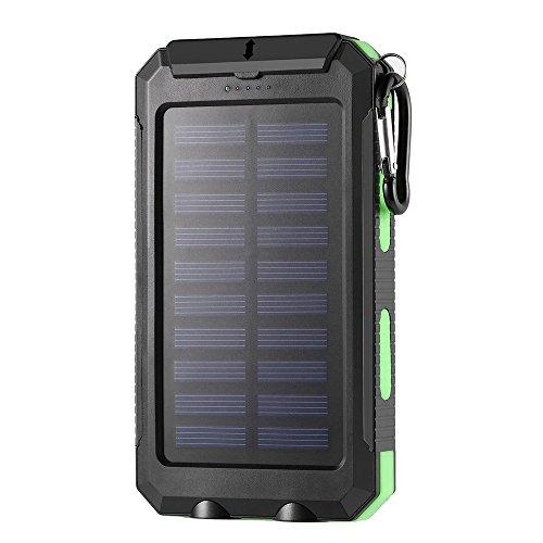 ohholly 300000mAh Portable Dual USB universal externo energía Solar banco potente LED luz de energía solar Banco Cargador de batería externa Ultra Alta Capacidad