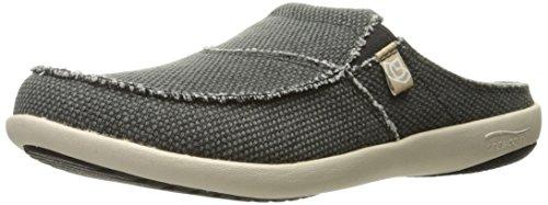 8M Medium US , Charcoal : Spenco Men's Siesta Canvas Slide Sandal