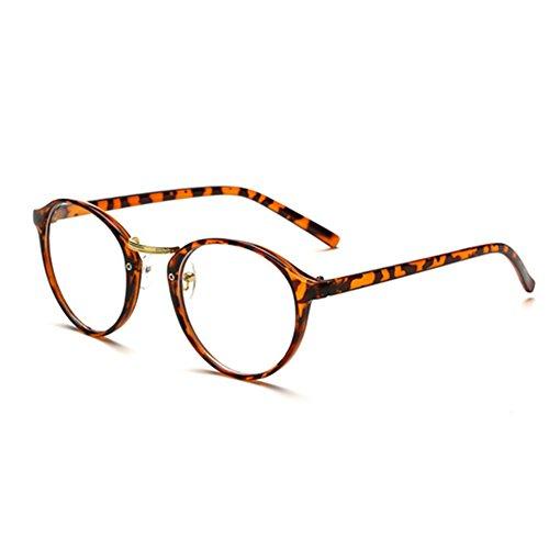 Meijunter Mode Persönlichkeit Praktische Dekoration Retro- runde Linse optische Gläser