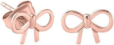 TDi cuerpo joyas. Oro rosa sobre 316L acero quirúrgico arco Stud Pendientes. Ear Stud. Un par con mariposas (espalda). Eje es 0,8mm de calibre. TDI joyas tamaño tarjeta incluido.