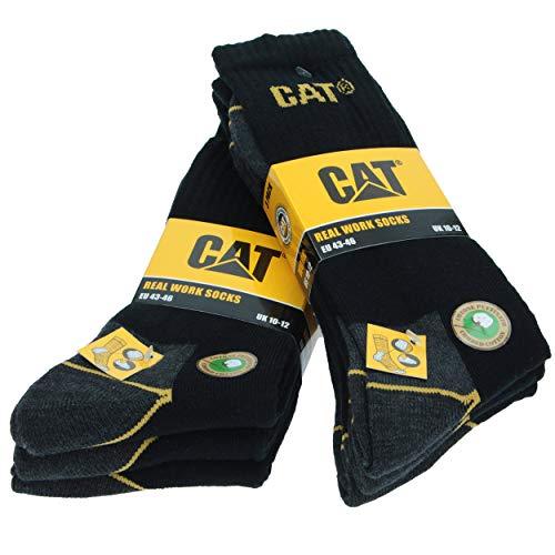 Caterpillar CAT - Chaussettes basses - Homme (43-46, 6 paires de Noir)