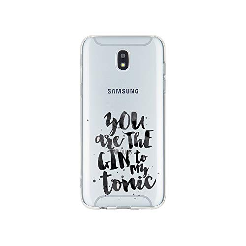 licaso Samsung J3 Handyhülle Smartphone Samsung Case aus TPU mit You Are The Gin to My Tonic Love Print Motiv Slim Design Transparent Cover Schutz Hülle Protector Soft Aufdruck Lustig Funny Druck