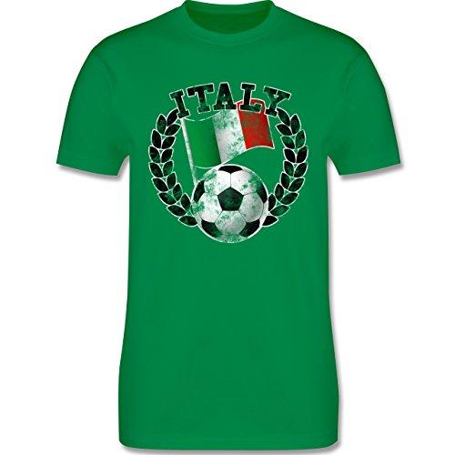 EM 2016 - Frankreich - Italy Flagge & Fußball Vintage - Herren Premium T-Shirt Grün
