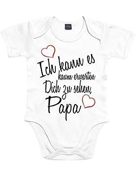 Mister Merchandise Baby Body Ich kann es kaum erwarten Dich zu sehen Papa Mama Oma Opa Strampler Bodysuit liebevoll...