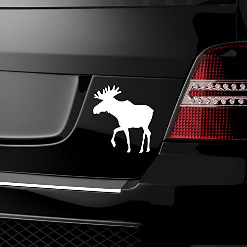 malango® Autoaufkleber Elch Auto Aufkleber Schweden Norwegen Kanada Tier Tieraufkleber ca. 40 x 45 cm silber silber ca. 40 x 45 cm