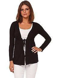Glamour Empire. Femme Cardigan en jersey manches longues. Cravate devant. 235