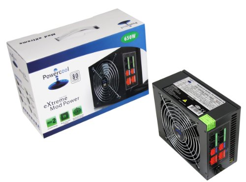 Powercool Modular 650W PSU 80 Single 12V V2.31 High Efficiency lowest price