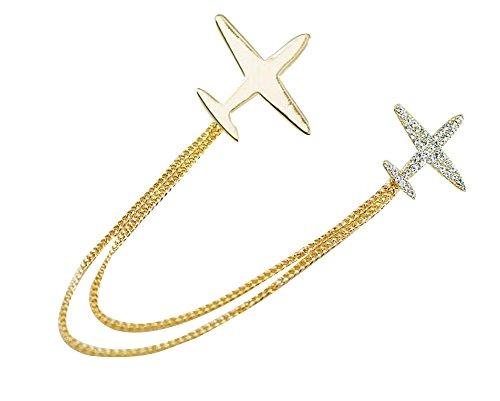 Femmes Special Aircraft Shape Brooch Vêtements Accessoires Gold Couleur