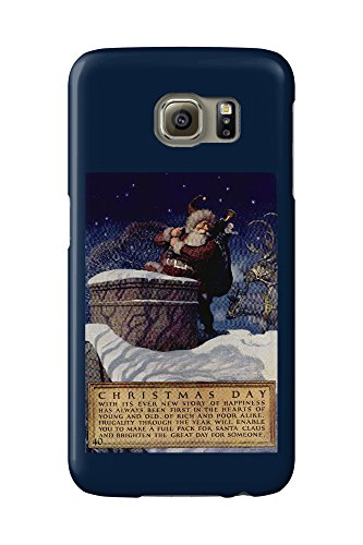 christmas-day-vintage-poster-artist-wyeth-usa-galaxy-s6-cell-phone-case-slim-barely-there