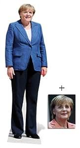 Angela Merkel Lebensgrosse Pappfiguren / Stehplatzinhaber / Aufsteller - Enthält 8X10 (25X20Cm) starfoto