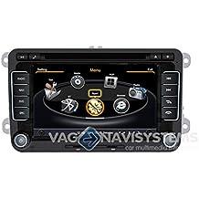 "Navegador Volkswagen Golf V, VI / Passat B6, B7, CC - Táctil 2 DIN 7"" HD GPS DVD iPod USB SD BT - S100"