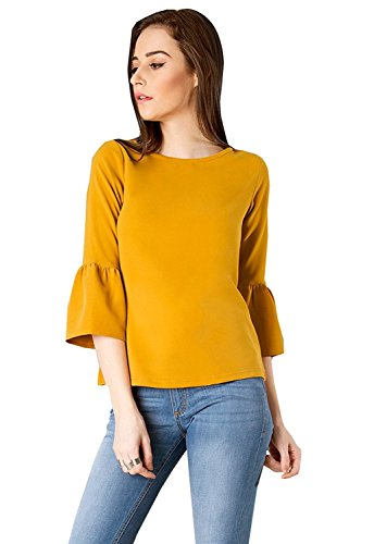 Vrati Fashion Women Tunic Short Top For Jeans Plain Diamond Creap Top For Daily wear Stylish Casual and Western Wear Women/Girls Top 1
