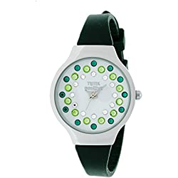 Ladies' THINK POSITIVE® Model SE W89 Small Steel Strap Of Silicone Color Military Green