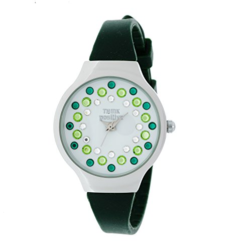 ladies-think-positiver-model-se-w89-small-steel-strap-of-silicone-color-military-green