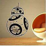 WFYY Stickers Muraux Décor À La Maison Robot Bricolage 3D Vinyle Mur Geek Amovible Gamer Murale Enfants Chambre Papier Peint 66X42Cm