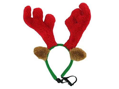 Elchgeweih für Hunde Haarreif Weihnachten Hund Geweih Haustier Rentiergeweih wm-101