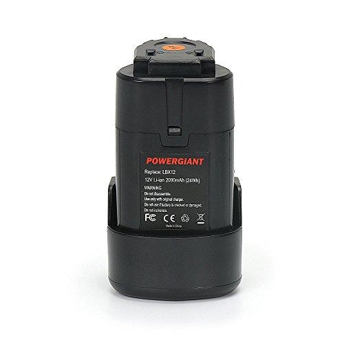 Preisvergleich Produktbild POWERGIANT 12 V 2000 mAh LI-ION Ersatz-Akku Für Black & Decker LBX12, BL1110, BL1110, BL1310, BL1510, LB12, LB12, LBXR12 USW. 1 Jahr Garantie