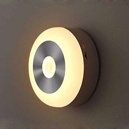 SUN EAGLE Automatische Bewegungsmelder LED-Nachtlicht Infrarot-Körperlichtkontrollleuchte Intelligentes Sensor-Nachtlicht Mit Klebeband Und Haken Für Treppen Toilette Kleiderschrank Schrank,A