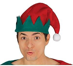 GUIRMA Gorra de Elfo de Gamuza, Color Verde, Rojo, capelfo