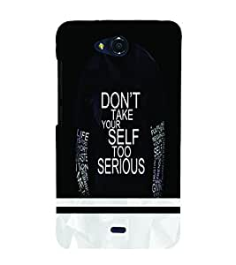 PrintVisa Quotes & Messages Attitude 3D Hard Polycarbonate Designer Back Case Cover for Micromax Canvas Play Q355