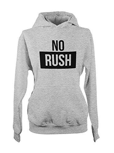 No Rush Amusant Femme Capuche Sweatshirt Gris